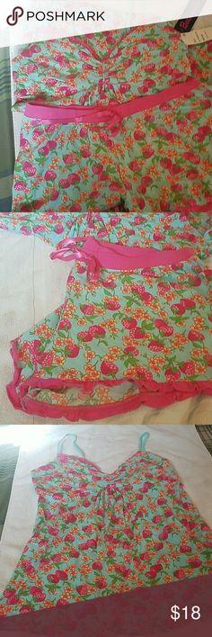 Sleep set Cute Strawberry and flower pj set Super soft bestyville Intimates & Sleepwear Pajamas