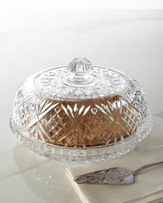 """Dublin"" Crystal Pie Dome by Godinger at Neiman Marcus. barbarasangi"