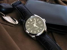 Seiko SARB033 on a black alligator leather strap