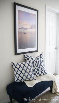 Blow up and frame a photo from your favorite vacation for personalized wall art