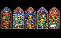 Stained Glass Art Patterns | The Wind Waker real stained glass window