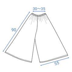 スカンツ(ガウチョパンツ)の無料型紙と作り方 スカンツの簡単な作り方です。 ガウチョパンツ、ワイドパンツ、スカーチョ、キュロットスカートとも言えそうです。 構造はパンツです。 後ろからみてもスカートのように見えます。 型紙なしで作ることができます...
