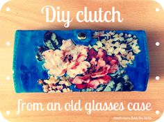 much more than the birds.: Diy floral clutch