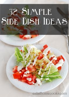 32 Simple Side Dish Ideas from @Tiffany King Eat at Home