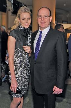 3.03.12 Princess Charlene & Prince Albert II of Monaco at pre-Oscar party