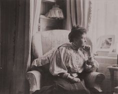 Princess Irene of Prussia, nee of Hesse, sister of Tsarina Alexandra sitting in the Mauve Room