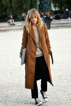PLAER Damen Mode Kaschmir Mantel Lange Trench Mantel wollen