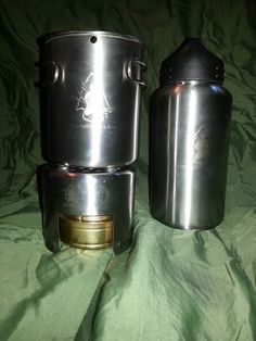 Pathfinder Bottle and Cup set with Esbit Alcohol Burner and Nesting Stove