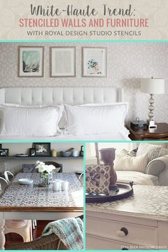 Be on trend with stenciled walls and matching stenciled furniture