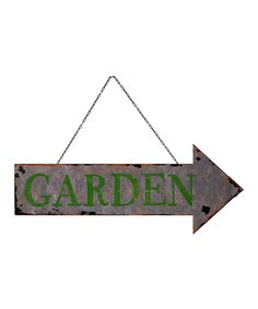 Look at this Metal Arrow 'Garden' Wall Sign on #zulily today!