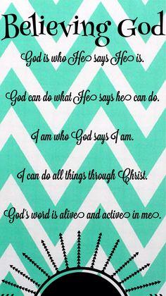 """Beth Moore """"Believing God"""""""