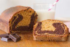 #receta Bizcocho Marmolado Esponjoso de #Chocolate y Vainilla