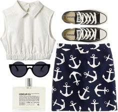 """""""navy"""" by rosiee22 ❤ liked on Polyvore"""
