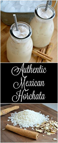 Horchata is a delicious rice (or coconut) based drink that you can find at most . Drinks , Debbie Cohen, Drinks Horchata is a delicious . Mexican Horchata, Mexican Drinks, Mexican Dishes, Mexican Party, Mexican Dessert Table, Authentic Mexican Recipes, Mexican Food Recipes, Vegetarian Mexican, Vegetarian Recipes