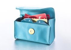 This gorgeous blue Card Cubby with the RFID block lining will help you save in style AND keep your credit card information protected.