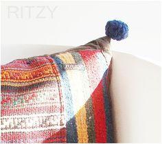 Pixy, Ancient Persian Handmade Kilim,Wool, Pillow Cover