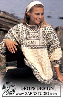 Sweater nordisk i Karisma fra 1921 ~ DROPS Design