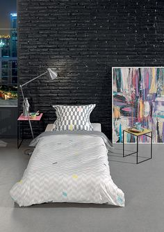 housse de couette romance 100 coton 57 fils cm2 avec rabat au pied pour border taie d. Black Bedroom Furniture Sets. Home Design Ideas
