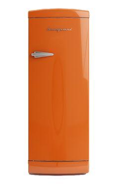 Frigo Bompani Retrò monoporta #arancio #Bompani #architettura #design #arredamento #retrò #MadeInItaly #frigoriferi #Fridge #ItalianCulture #ItalianCuisine