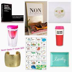 GIFTS: Gifts under $25. Secret Santa gifts.