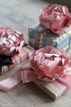 Paper Peonies (template and tutorial) paper flowers