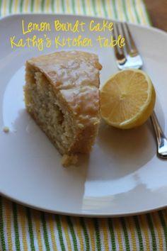 Lemon Bundt Cake | Kathy's Kitchen Table