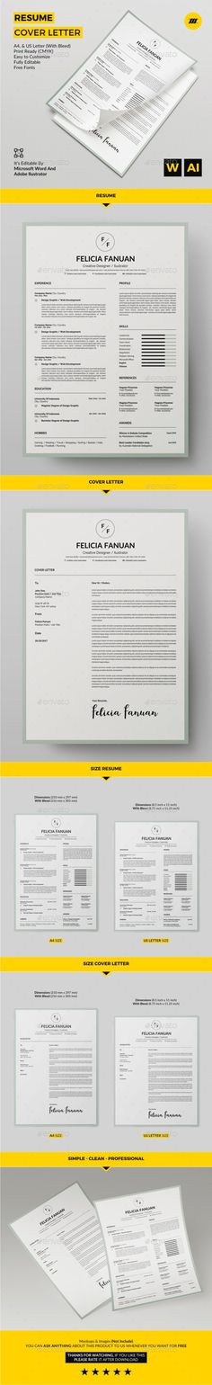 Resume Template CV Template + Cover Letter Modern Resume - eye catching resume objectives