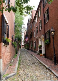Also on Walter's list: Charles & Acorn Streets in Boston's Beacon Hill. Just steps away & perfectly picturesque.
