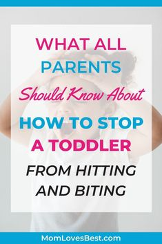 Wondering what else you can try to stop your toddler's hitting and biting? We'll give you some tips for stopping and preventing this bad habit. Parenting Toddlers, Parenting Hacks, Funny Parenting, Christian Parenting Books, Toddler Milestones, Parenting Courses, Toddler Biting, Toddler Development, Kids Behavior
