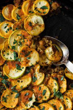 Vegetarian Paella #summersquash #healthyrecipe