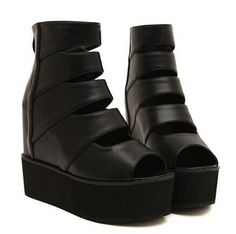 Stylish Women's Peep Toed Shoes With Hollow Out and Black Design Black Peep Toe Heels, Open Toe Shoes, Black High Heels, Peep Toe Pumps, Cheap Shoes, Buy Shoes, Women's Shoes, Summer Boots, Jessica Simpson Shoes