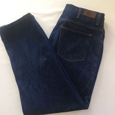 35 x 29 Jeans LL Bean Natural Fit Denim Blue Mens Relax Fit Straight Item 104731 #LLBean #Relaxed