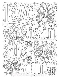 Love Is In The Air Coloring Page By Thaneeya McArdle