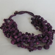 &Banana - Wooden beads crocheted necklace