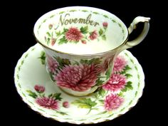 royal albert china flower of the month series - November