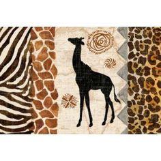 Safari Jungle Landscape Canvas Art - Pamela Gladding (12 x 18)