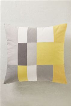 Ochre Patchwork Cushion Studio Collection By Next