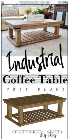 Woodworking For Beginners Wall Decor DIY Industrial Coffee Table. Such a rustic yet clean look for the modern farmhouse style! For Beginners Wall Decor DIY Industrial Coffee Table. Such a rustic yet clean look for the modern farmhouse style! Diy Home Decor Rustic, Retro Home Decor, Modern Decor, Industrial Interior Design, Industrial House, Table Diy, Diy Wall Shelves, Wood Shelf, Pallet Shelves