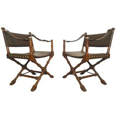Safari Style Chairs by Drexel | From a unique collection of antique and modern chairs at https://www.1stdibs.com/furniture/seating/chairs/