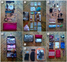 All those necessities to bring along & how to pack them compactly! (This page has really great info on what to put in your medical kit for all situations).