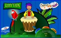 """Be a Rockin' Rhythm Master"" Game: the drummer plays a rhythm, and the player has to repeat the rhythm on the space bar of the keyboard. If you repeat it close enough, the parrot cheers for you."