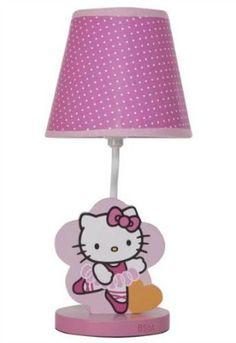 Hello Kitty Ballerina lamp for nursery or little girl's room.