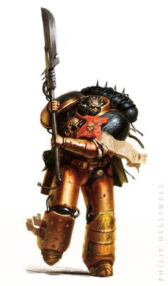 """philmakespictures: """"Archaic Marine This character originally appeared in the Inquisitor Sketchbook by John Blanche (Games Workshop). Quite loose and sketchy on this one, lots of fun. Warhammer 40k Memes, Warhammer Art, Warhammer Models, Warhammer 40k Miniatures, Warhammer Fantasy, Warhammer 40000, Space Dragon, Chaos 40k, Mmorpg Games"""