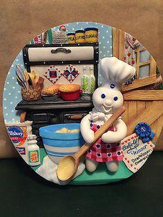 Piece NEW Pillsbury Doughboy Stove & Counter Mats All American Boy ...