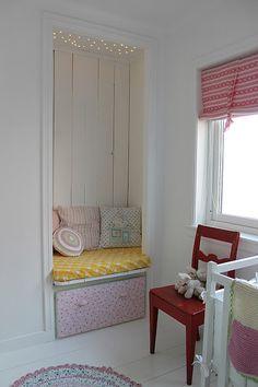 .Adorable nursing corner or reading nook idea.