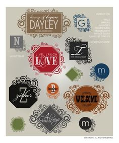 DOWNLOADABLE BORDERS & FRAMES 7 ... 13 elegant, embellished, bordered vector designs for making your own vinyl wall word art designs from home (AI, EPS, GSD, SVG files) @ My Vinyl Designer (http://www.myvinyldesigner.com/Products/frames--borders-7.aspx#)