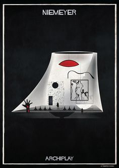 Image 28 of 29 from gallery of Federico Babina's ARCHIPLAY Illustrations Imagine Set Designs by Master Architects. Photograph by Federico Babina Architecture Panel, Architecture Tattoo, Architecture Portfolio, Architecture Design, Museum Architecture, Oscar Niemeyer, Zaha Hadid, Bauhaus, Architectural Section