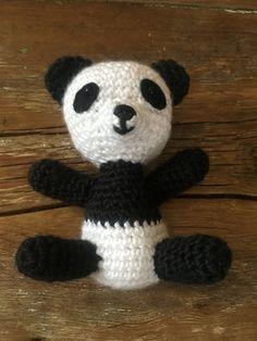 Crocheted Panda Bear by MaeDayCrochetShop on Etsy Crochet Panda, Baby Booties, Panda Bear, Hello Kitty, Snoopy, Etsy, Fictional Characters, Art, Key Chains