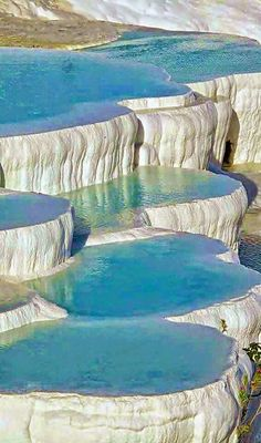 Natural infinity pool, Pamukkale Turkey