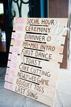 country wedding, wedding schedule, wedding sign, wooden wedding sign, wooden…